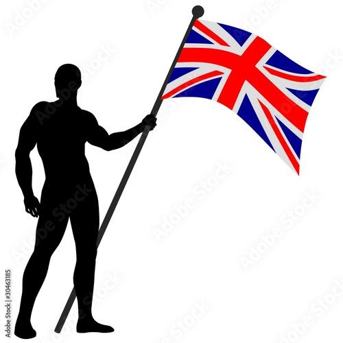 Photo  Vector illustration of a flag bearer