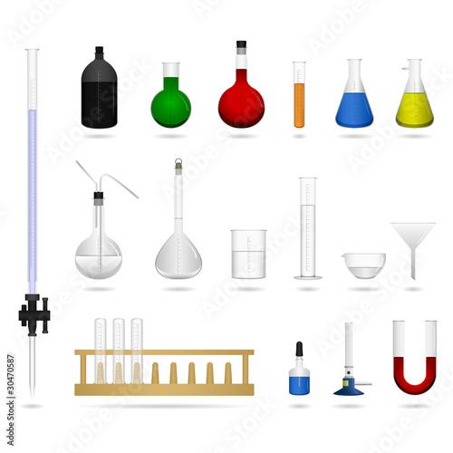 Science lab laboratory equipment tool Canvas-taulu