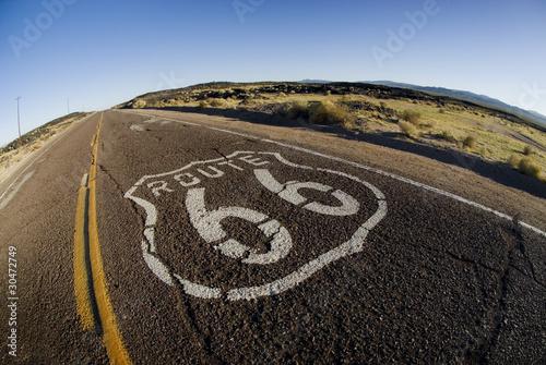 In de dag Route 66 Wide Route 66