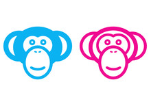 Male And Female Monkey Vector ...