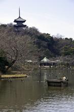Three-story Pagoda & Boat