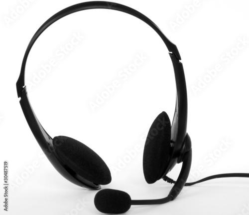 Obraz Headphones with microphone - fototapety do salonu