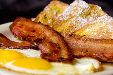 French Toast, Bacon And Eggs F...