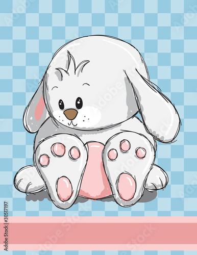 Foto-Lamellen (Lamellen ohne Schiene) - Easter greeting card - Cute bunny (von adrijanavs)