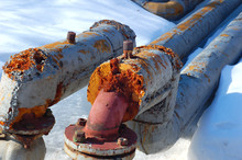 Rusty Decayed Pipes