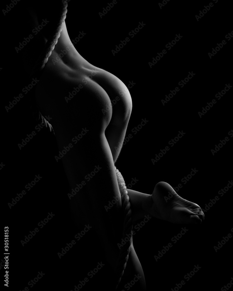 Fototapeta erotic body parts, legs, butts, and rope