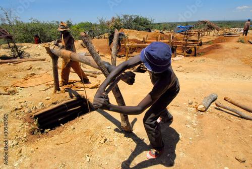 Staande foto Afrika minatori africani