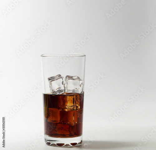 Tablou Canvas Glass of cola with ice