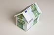 canvas print picture - Haus aus Euroscheinen