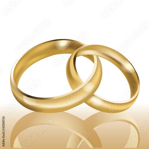 Wedding Rings Symbol Of Eternal Love Vector Illustration Buy