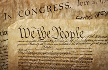 Close-up Of The U.S. Constitution