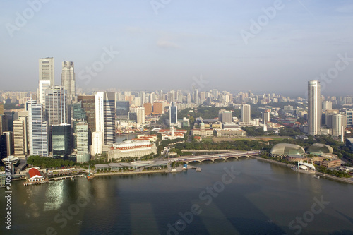 Keuken foto achterwand Moskou Skyline of Singapore business district, Singapore
