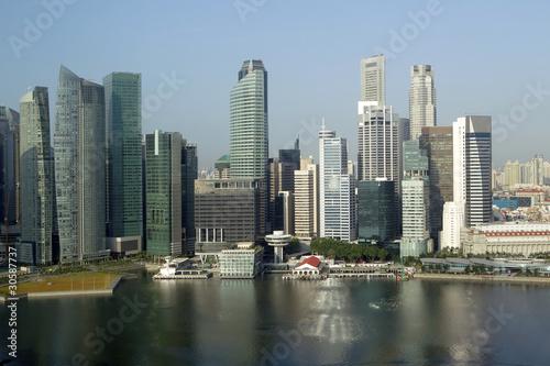 Tuinposter Singapore Skyline of Singapore business district, Singapore