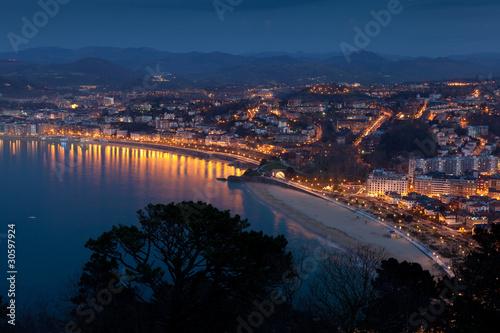Photo  Panorámica de San Sebastian, Gipuzkoa, España