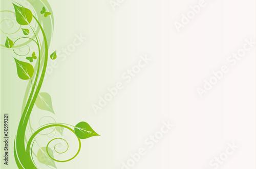 Slika na platnu floral ecolo vert