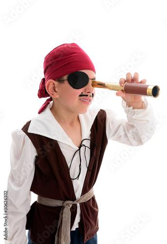 Stampa su Tela Pirate looking through scope