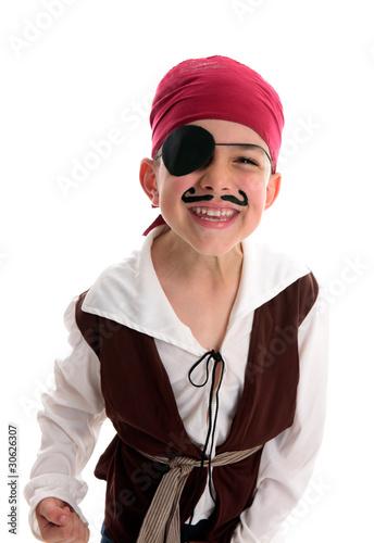 Fotografia Happy laughing boy pirate costume