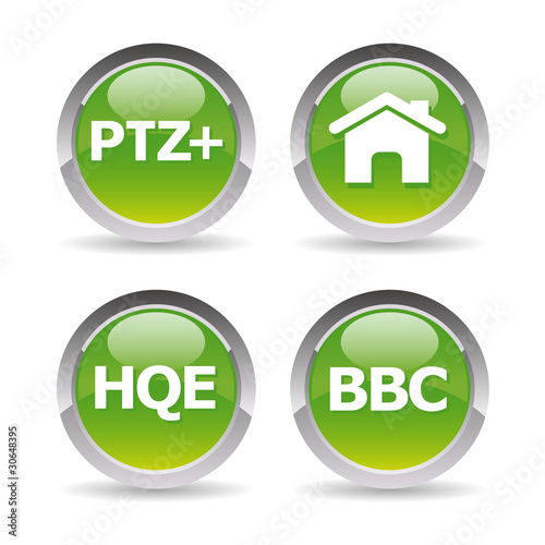 Photo  Pictos maison bbc, hqe, ptz