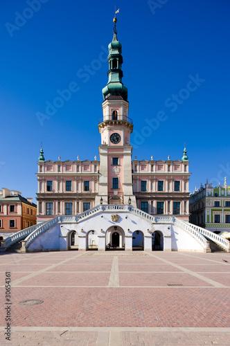 Poster Northern Europe Town Hall, Main Square (Rynek Wielki), Zamosc, Poland