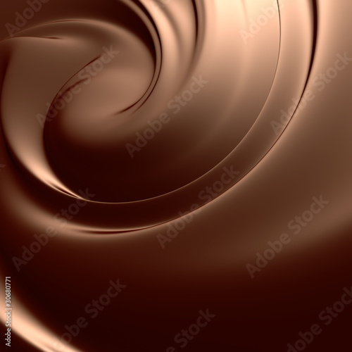 Spoed Foto op Canvas Chocolade Astonishing chocolate swirl