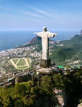 Dramatic Aerial View Of Rio De...
