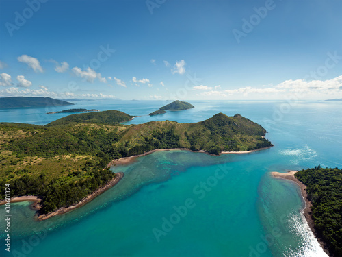 Poster Australie Aerial view of the Whitsunday Islands