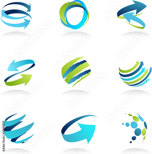 Fotografía  Business abstract icons