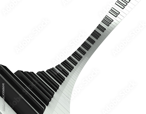 Fotomural 3d Piano keyboard distortion
