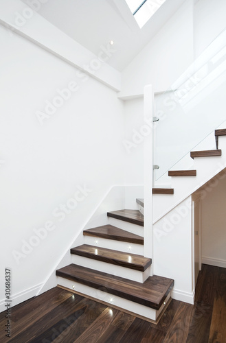 Poster Trappen modern staircase