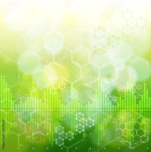 Naklejki abstrakcyjne zielona-koncepcja-abstrakcji