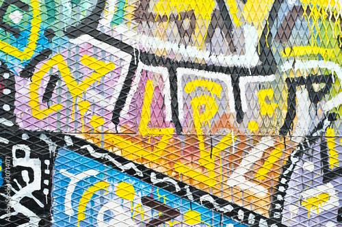 Colorful Urban Art Poster