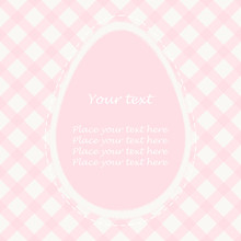 Easter Card With Big Pink Egg