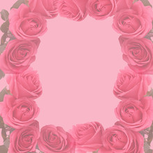 Pink Faded  Roses Scapbooking Page