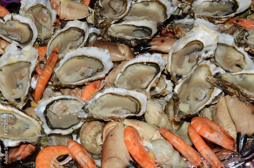 Foto auf Gartenposter Sansibar Plateau de fruits de mer