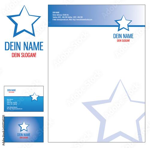 Ci Corporate Identity Briefbogen Briefpapier Visitenkarte
