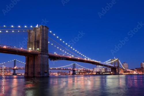 Deurstickers Bruggen brooklyn bridge.