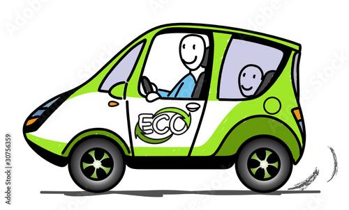 Plakaty ekologiczne samochod-ekologiczny