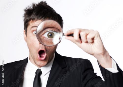 Fotografie, Tablou  examination business à la loupe