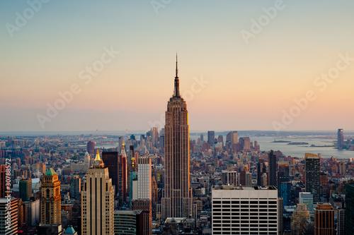 Pinturas sobre lienzo  Sunset in New York City
