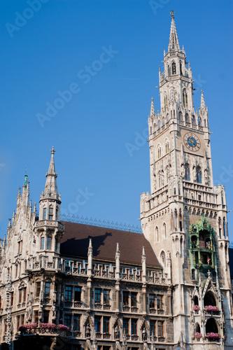 Deurstickers Brugge New city hall in Munich, Germany