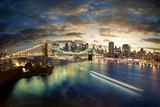 Amazing New York cityscape - taken after sunset