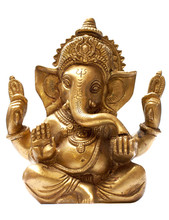 Golden Hindu God Ganesh Over A...