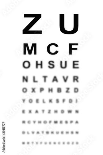 Valokuva  Test de vision