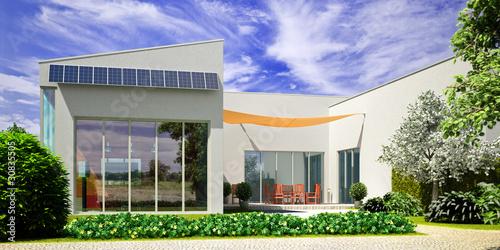 Moderne Landhaus Architektur Buy This Stock Illustration
