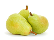Three Pears Isolated On White Background