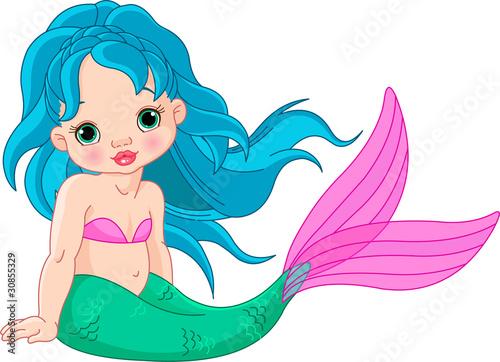 Mermaid baby Girl Poster