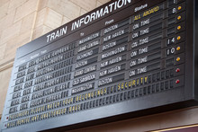 Train Station Schedule Board
