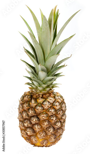 Fototapety, obrazy: ripe pineapple isolated on white