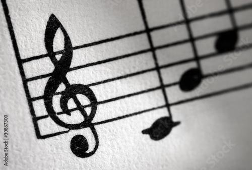 Fotografie, Obraz  Notenschlüssel - Violinschlüssel