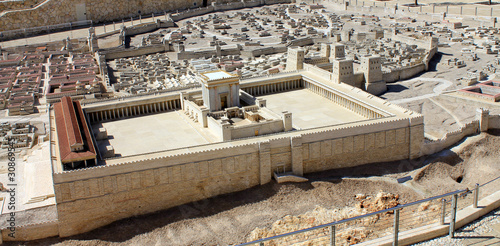 Spoed Foto op Canvas Temple The model of Temple in Jerusalem